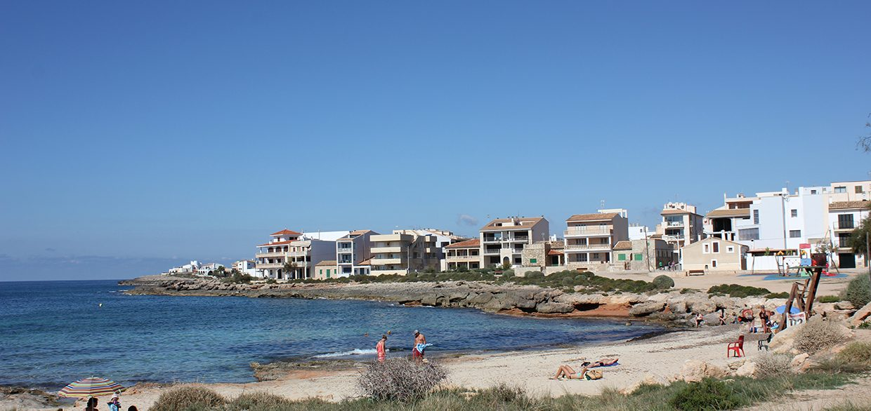 Beach Cala Galiota Colonia Sant Jordi