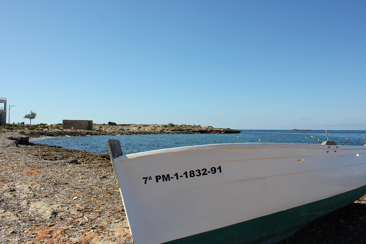 Boat on Cala Galiota