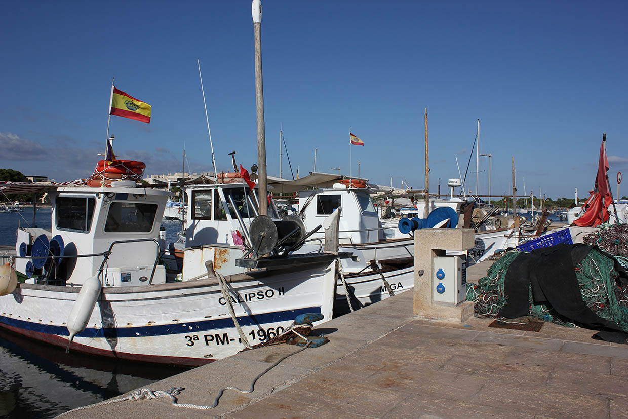 Fishermann Boats in Colonia sant Jordi
