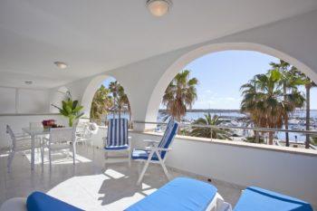 Appartements Edificio Puerto Colonia Sant Jordi Mallorca Terrasse 3 Schlaffzimmer Meeresblick