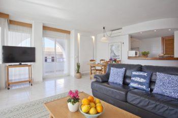 Appartements Edificio Puerto Colonia Sant Jordi Mallorca Wohnzimmer 3 Schlaffzimmer Meeresblick